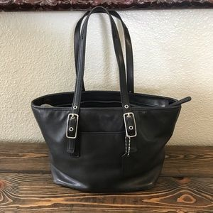 Vintage Coach medium West Market Tote black